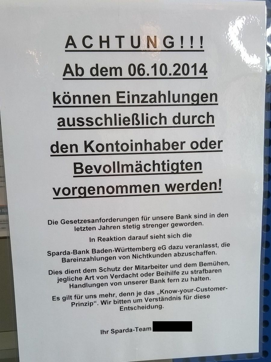 Commerzbank Bareinzahlung